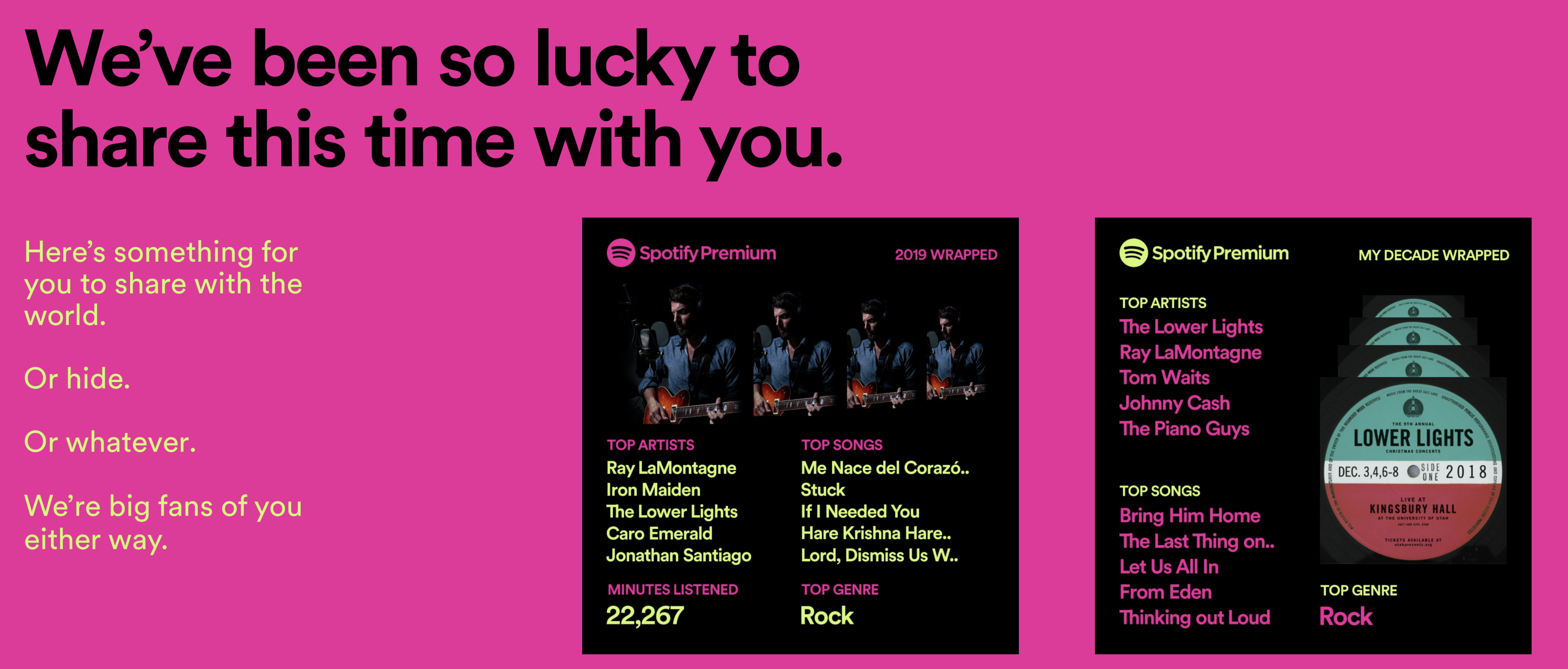 This is my spotify year in review for 2019